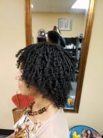 Natural hair with finger curls
