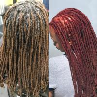 Natural Haircare (Before and After Haircolor and Loc Maintenance Session)