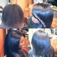 Flatiron for black hair at Something Special Styling Salon in Irving, TX.